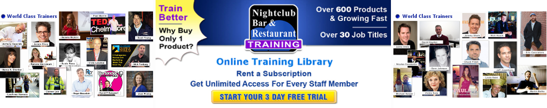 online training library for nightclubs, bars, & restaurants