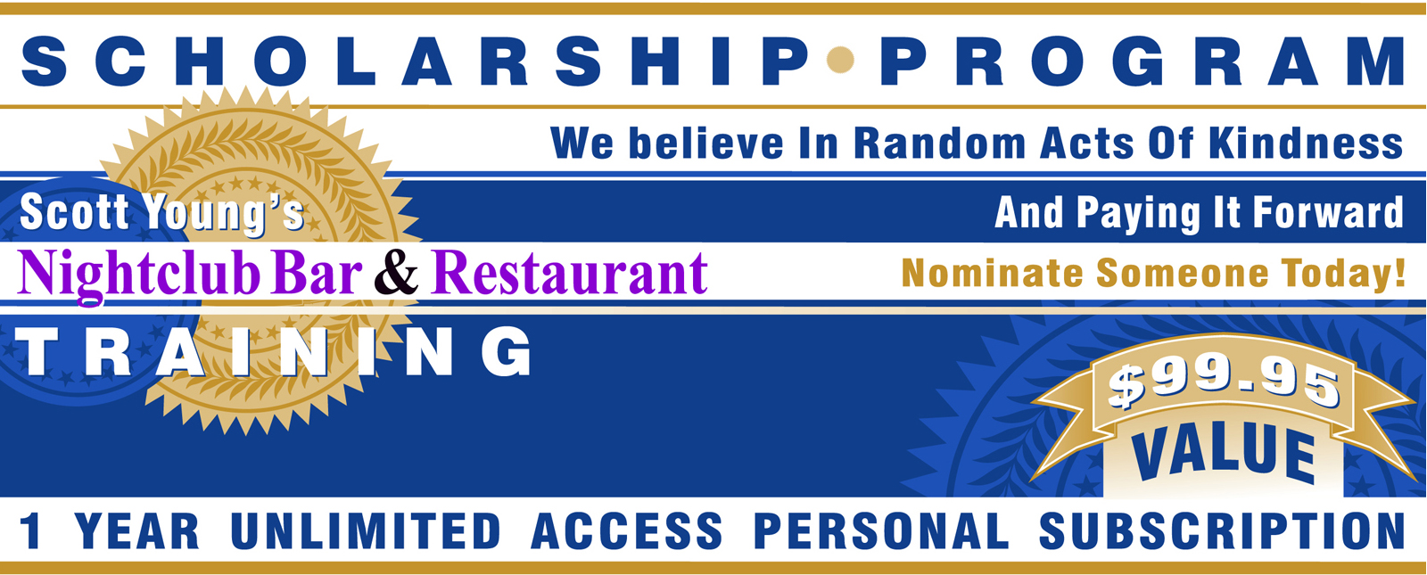 Scholarship Program | Nightclub, Bar & Restaurant Training Programs