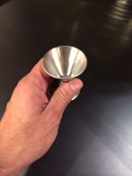 Jiggers and measuring cups to help bartenders for pouring quickly and accurately
